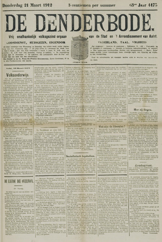 De Denderbode 1912-03-21