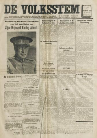 De Volksstem 1938-02-17