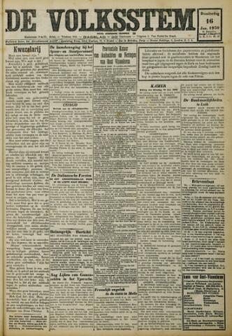 De Volksstem 1930-01-16