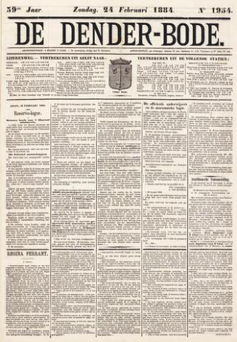 De Denderbode 1884-02-24