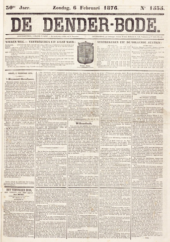 De Denderbode 1876-02-06