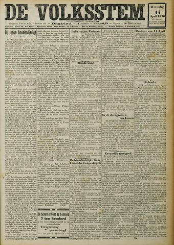 De Volksstem 1926-04-14