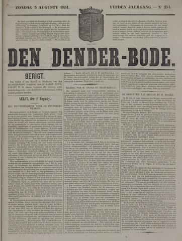 De Denderbode 1851-08-03
