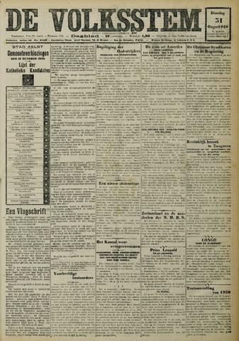 De Volksstem 1926-08-31