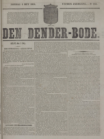 De Denderbode 1851-05-04