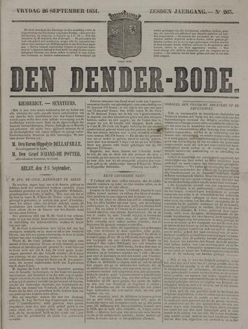 De Denderbode 1851-09-28
