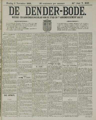De Denderbode 1891-11-01