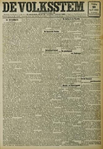 De Volksstem 1923-04-20