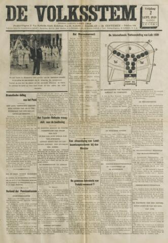De Volksstem 1938-09-02