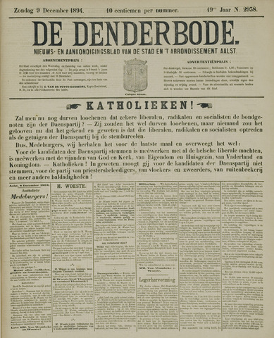 De Denderbode 1894-12-09
