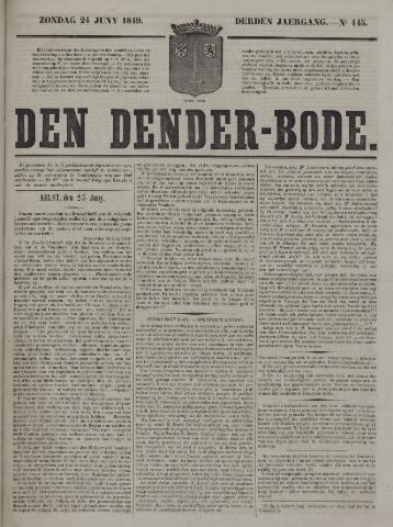 De Denderbode 1849-06-24