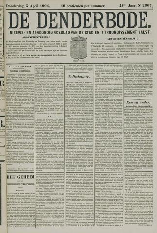 De Denderbode 1894-04-05