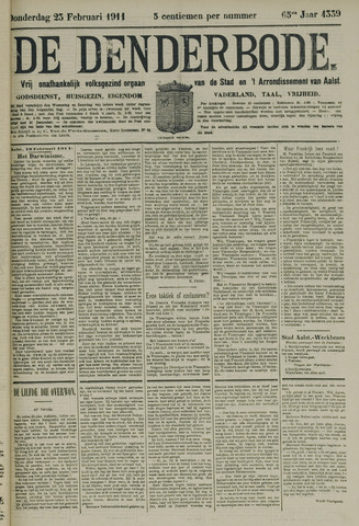 De Denderbode 1911-02-23
