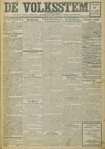 De Volksstem 1931-01-17