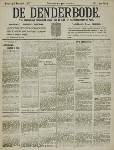 De Denderbode 1907-01-06
