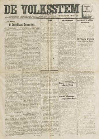 De Volksstem 1938-07-10