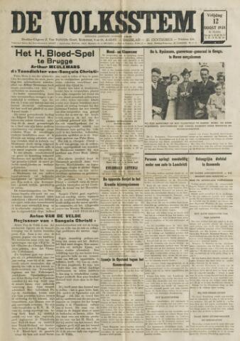 De Volksstem 1938-08-12