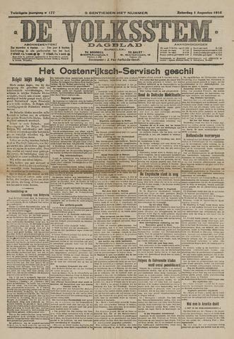 De Volksstem 1914-08-01