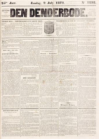 De Denderbode 1871-07-09