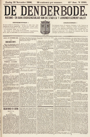 De Denderbode 1886-11-21