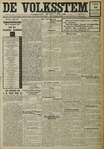 De Volksstem 1926-09-24
