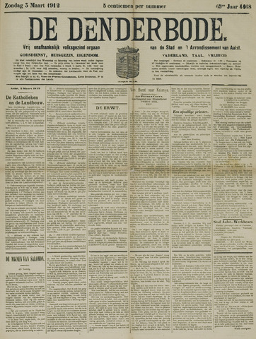 De Denderbode 1912-03-03