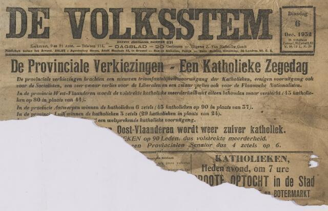 De Volksstem 1932-12-06