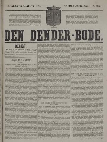 De Denderbode 1851-08-24