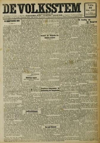 De Volksstem 1923-02-16