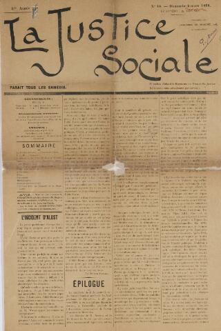 La Justice Sociale 1898