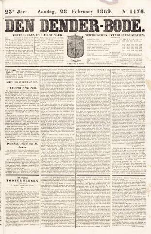 De Denderbode 1869-02-28