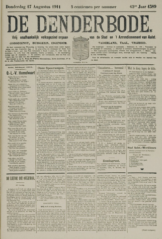De Denderbode 1911-08-17