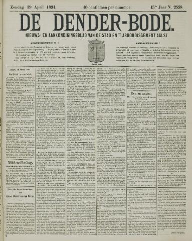 De Denderbode 1891-04-19