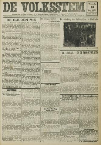 De Volksstem 1931-12-16
