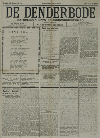 De Denderbode 1916-03-19
