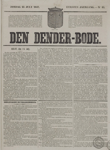 De Denderbode 1847-07-25