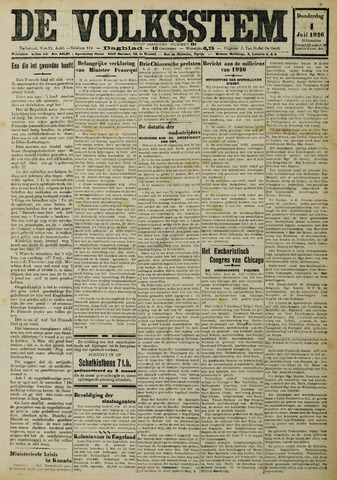 De Volksstem 1926-07-01