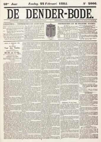 De Denderbode 1885-02-22