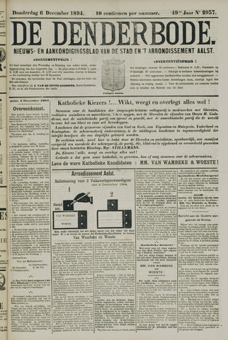 De Denderbode 1894-12-06