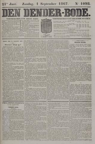De Denderbode 1867-09-01