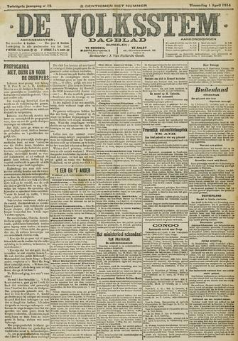 De Volksstem 1914-04-01