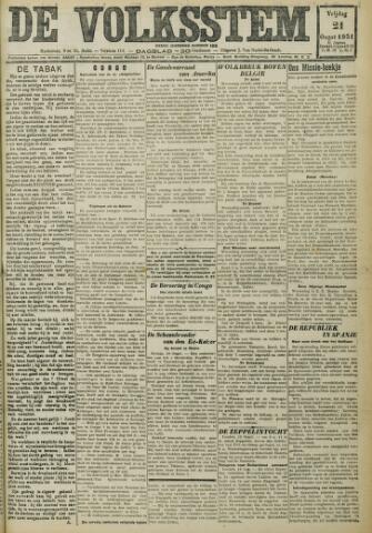 De Volksstem 1931-08-21