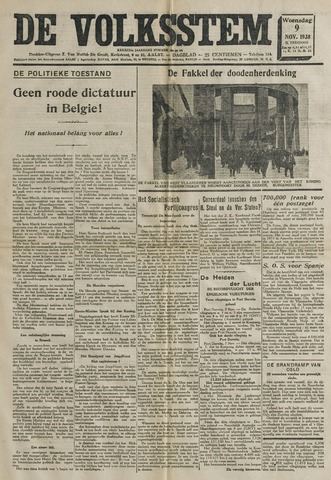 De Volksstem 1938-11-09