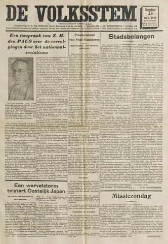 De Volksstem 1938-10-23