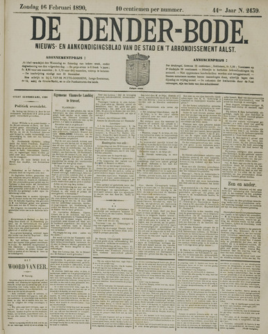 De Denderbode 1890-02-16