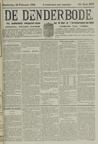 De Denderbode 1911-02-16