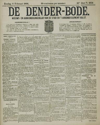 De Denderbode 1891-02-08