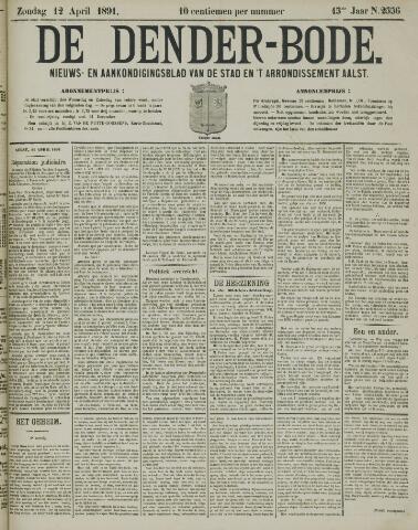 De Denderbode 1891-04-12
