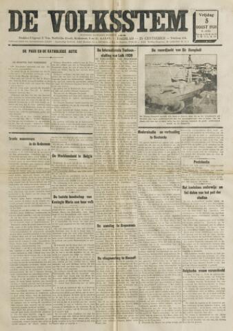 De Volksstem 1938-08-05