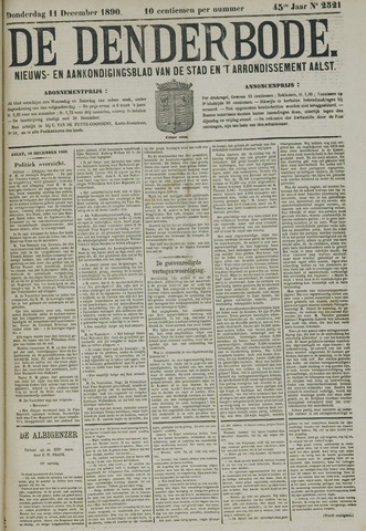De Denderbode 1890-12-11
